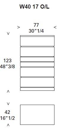 Deco_ W40 17_ 77 x 42 x H 123 cm (Avec tiroir secret)