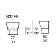 Ami B32EE_ 77 x 63 x H 39/72 cm