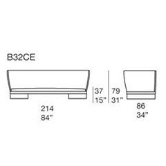 Ami B32CE_ 214 x 86 x H 37/79 cm
