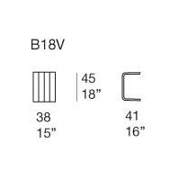 B18V; 38 x 41 x H 45 cm