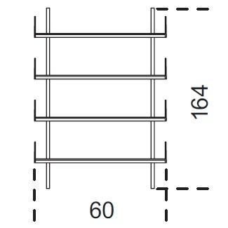 Brera_ 60 x 25 x H 164 cm (60M164)