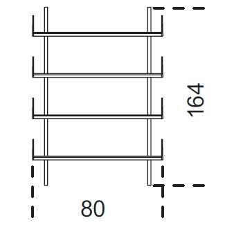 Brera_ 80 x 25 x H 164 cm (80M164)