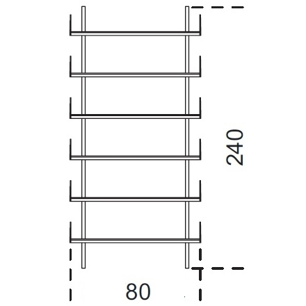 Brera_ 80 x 25 x H 240 cm (80M240)