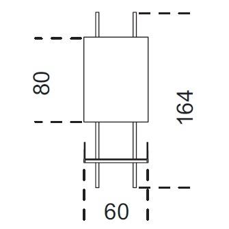 Brera_ 60 x 25 x H 164 cm (60A164)
