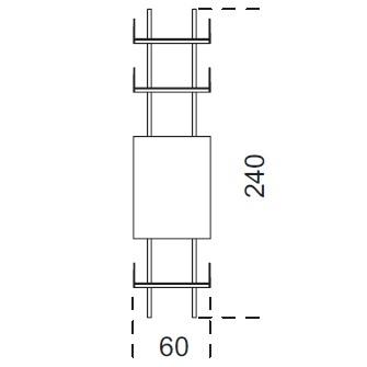 Brera_ 60 x 25 x H 240 cm (60A240)