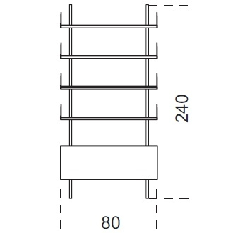 Brera_ 80 x 25 x H 240 cm (80R240)