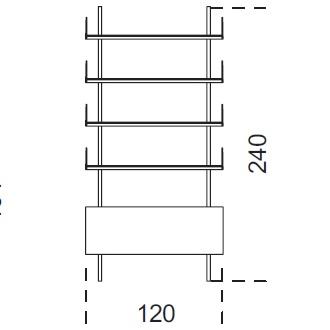 Brera_ 120 x 25 x H 240 cm (120R240)