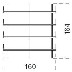 Brera_ 160 x 25 x H 164 cm (160M164)
