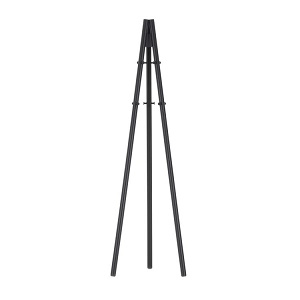 Coat Stand_ Legs black lacquered, structure and hooks black