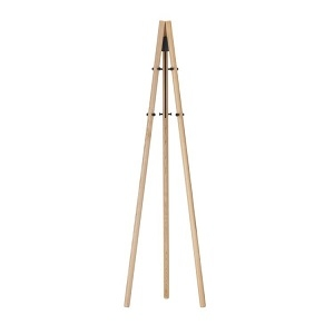 Coat Stand_ Legs natural lacquered, structure and hooks black