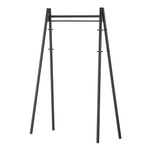 Coat Rack_ Legs black lacquered, structure and hooks black
