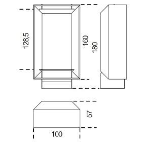 Duale (A)_100 x 57 x H 180 cm