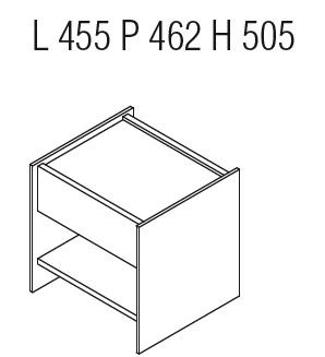 Casper CCN1_ 45.5 x 46.2 x H 50.5 cm