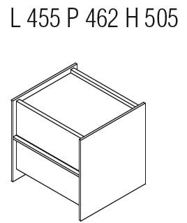 Casper CCN2_ 45.5 x 46.2 x H 50.5 cm