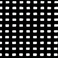 Tissu maillé_ Noir (R007)
